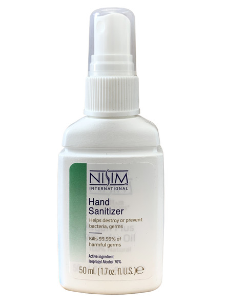 Nisim Hand Sanitiser Kills 99.9% of Germs 50ml Spray