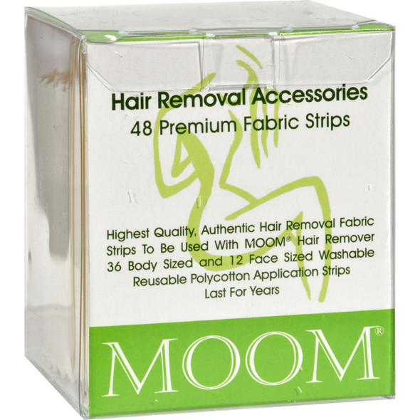 Moom Hair Removal Accessories 48 Premium Fabric Strips