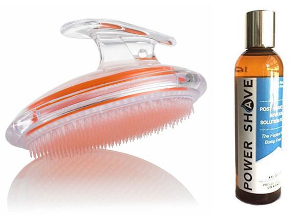 Power Shave 120ml + Exfoliating Brush Orange