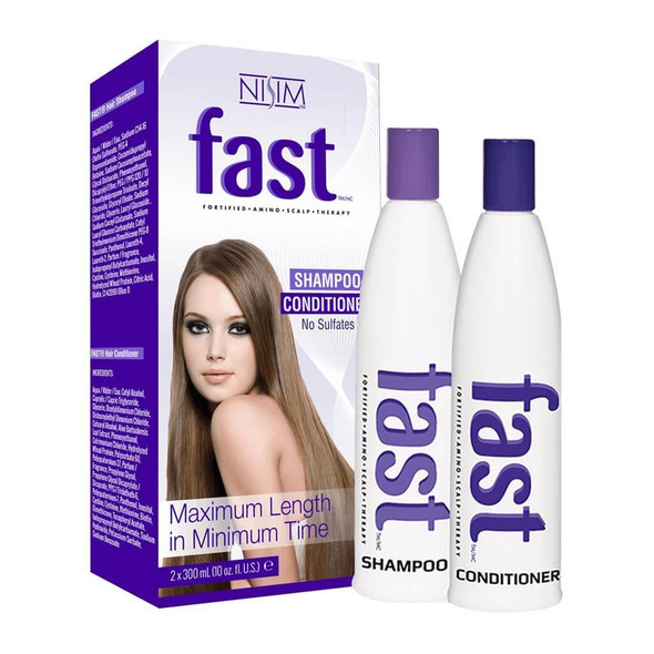 FAST Long Hair Growing Biotin Shampoo Conditioner + CRISAN Hair Oil Treatment