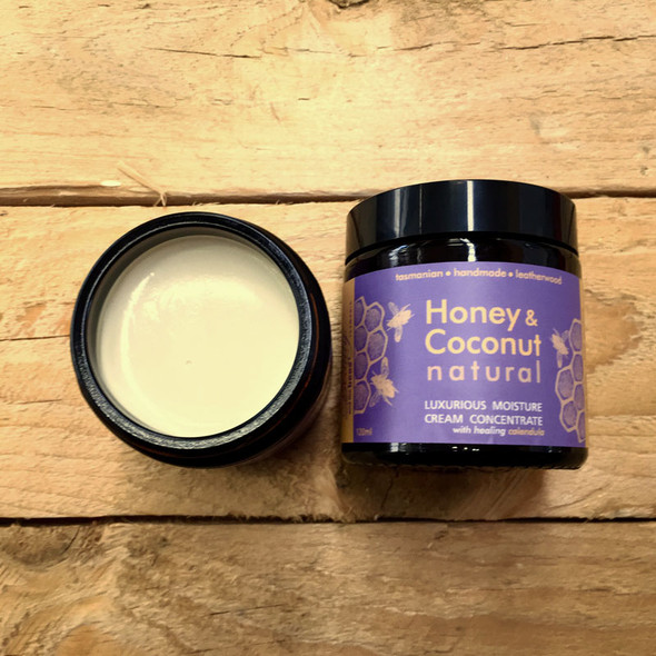 Beauty and the Bees Leatherwood Honey & Coconut LIGHT Moisture Cream -Sensitive Skin Marigold 120mL