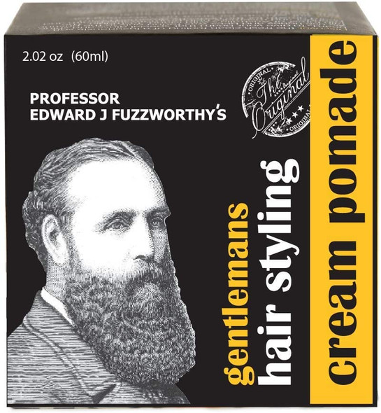 Professor Fuzzworthy's Gentlemans Hair & Beard Styling Pomade - Leave in Conditioner All Natural Men's Grooming with Leatherwood Honey & Essential Plant Oils | Handmade on Tasmania Australia 60ml