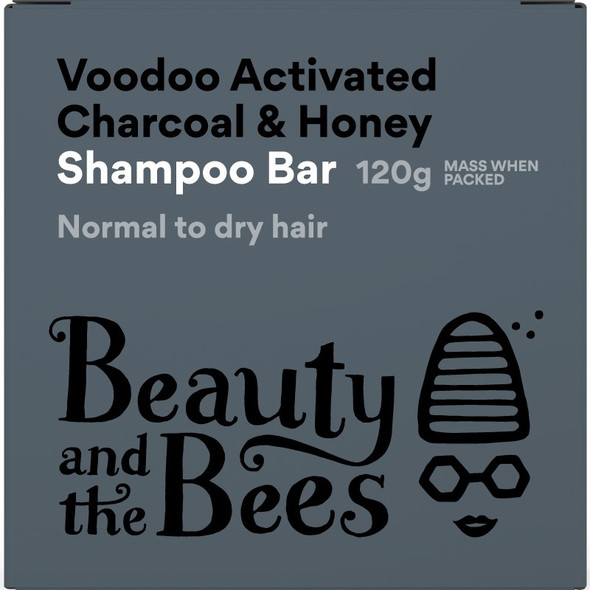 Beauty and the Bees Voodoo Bamboo Charcoal Shampoo Bar Minty Fresh Scent 4.4oz