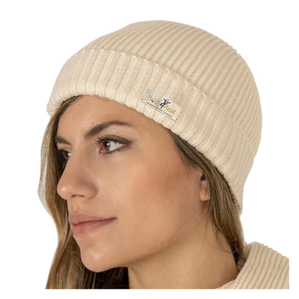 Body4Real Certified Organic Natural Cotton Unisex Winter Knit Hat
