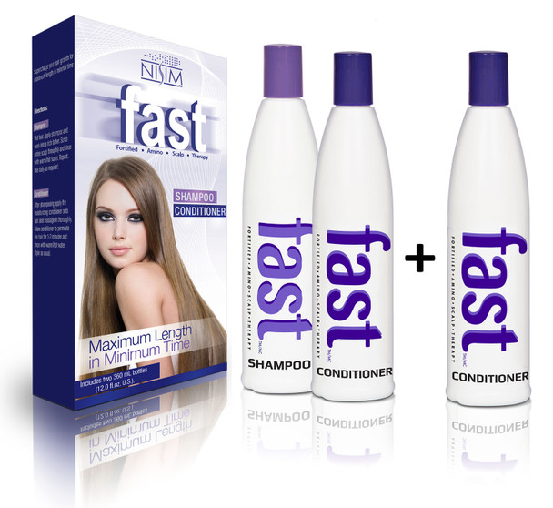 FAST Shampoo 300ml, 2x Conditioner 300ml - NO SLS/ PARABENS