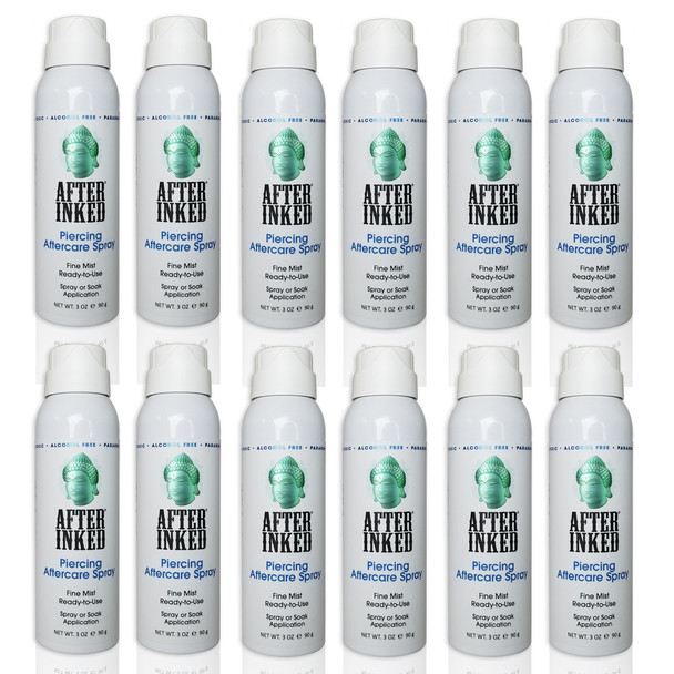 After Inked Body & Oral Piercing Aftercare Spray 60ml - Pack of 12