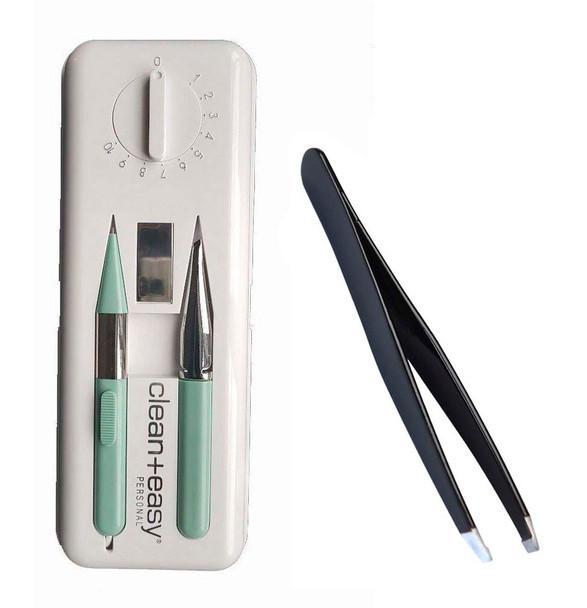 Clean & Easy Deluxe Home Electrolysis Kit + Stiles Tweezer