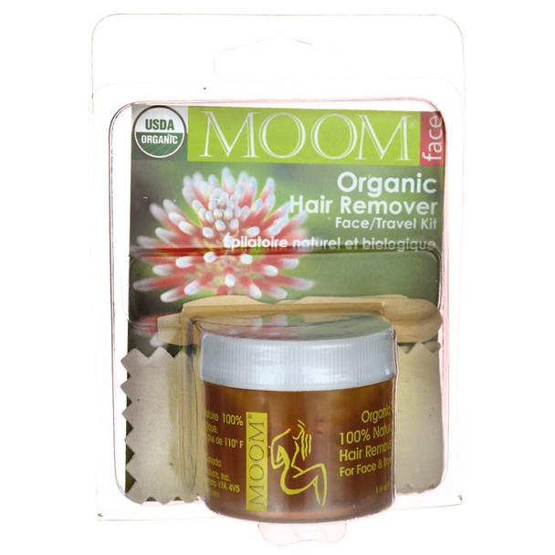 MOOM Organic Hair Removal Face/Travel Kit