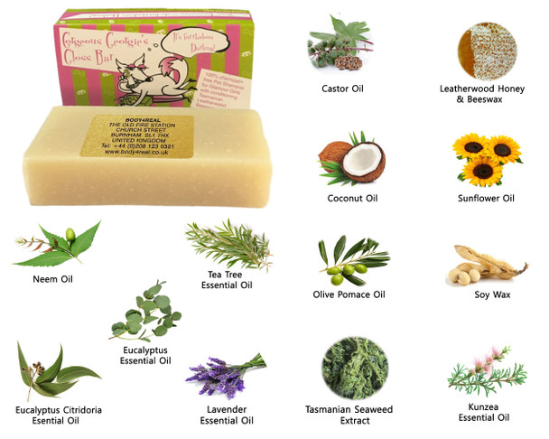 Beauty and the Bees Georgie's Gloss Shampoo Bar  For Pets All Natural