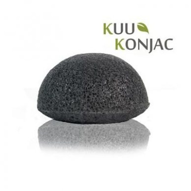 Konjac Bamboo Charcoal Exfoliating Sponge (oily/problem skin)