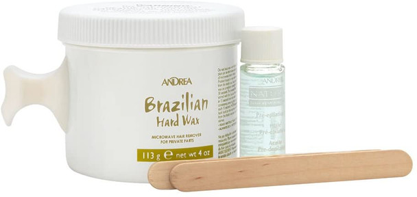 Andrea Brazilian Hard Wax With Pre-Epilation Oil
