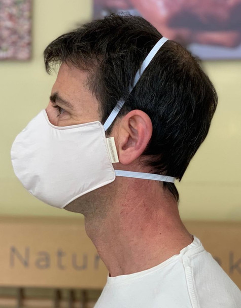 Pure Organic Cotton Reusable Mask with WATERPROOF Fabric  (MODEL 2)