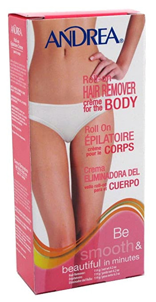 Andrea Roll-on Hair Remover Creme for the Body 4.2oz