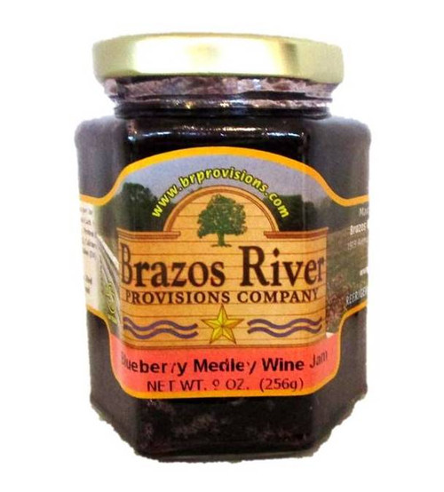 Blueberry Medley Wine Jam - Brazos River - 9 oz jar