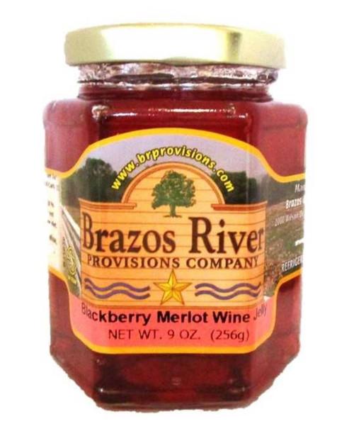 Blackberry Merlot Wine Jelly - Brazos River - 9 oz jar