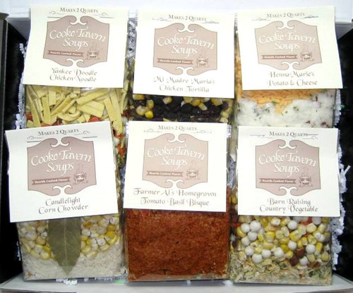 6 Variety Soup Gift Box - Cooke Tavern Soups - Themed Gift Box