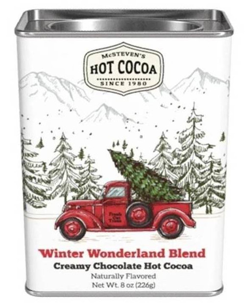 Creamy Chocolate Hot Cocoa Mix - Vintage Red Truck Holiday Tin