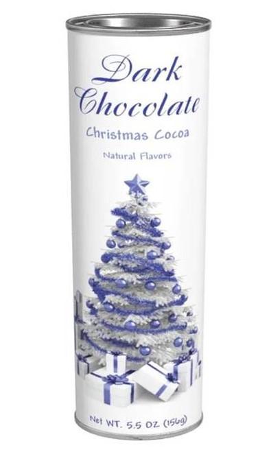 Creamy Dark Chocolate Hot Cocoa Drink Mix - Holiday Design Tin