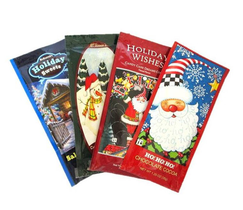 Holiday Themed Variety Hot Cocoa Drink Mix Packets