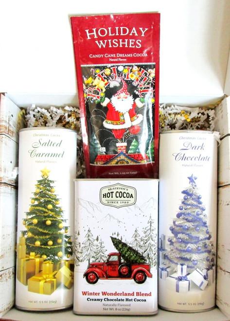 Hot Chocolate Cocoa Lovers Christmas Holiday Gift Basket