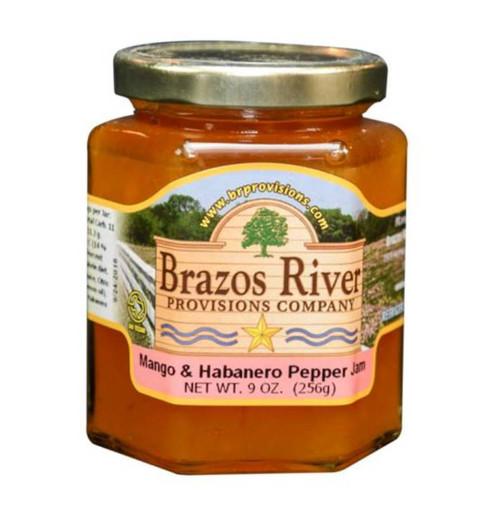 Mango, Habanero Pepper and Tequila Jam - Brazos River - 9 oz jar