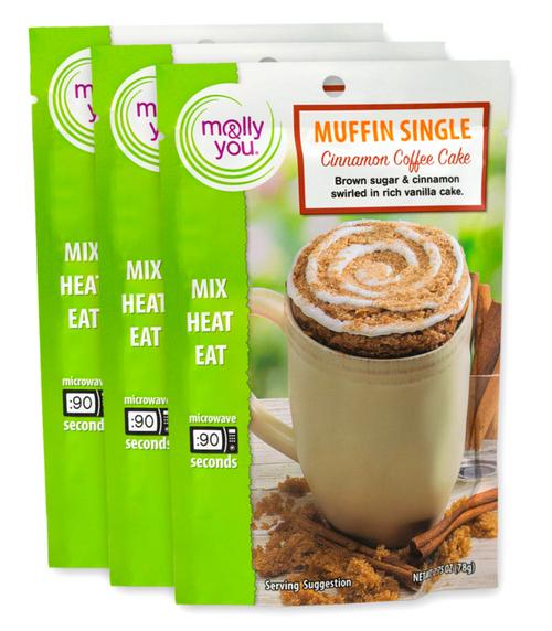 Cinnamon Coffee Cake Muffin in a cup single serve