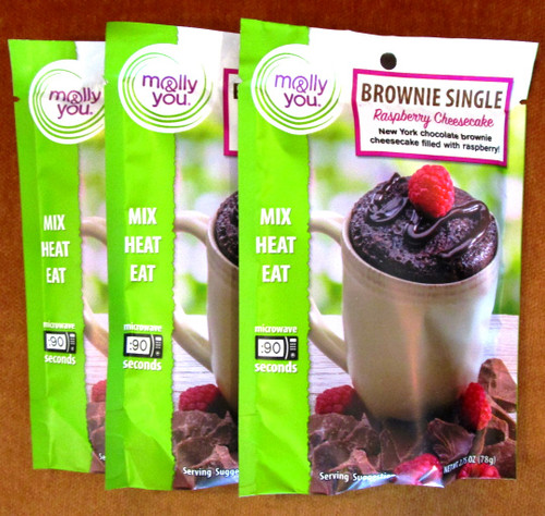 Chocolate Raspberry Cheesecake Brownie in a Cup Single Serve - 3 pack