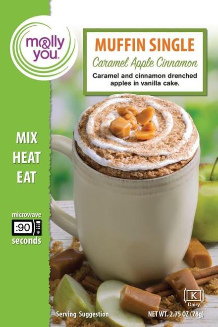 Caramel Apple Cinnamon Muffin in a Cup Single Serve - Single