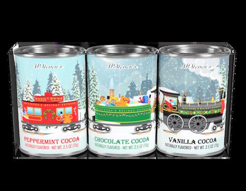 Holiday Express Train Cocoa Gift Set (3x2.5 oz Tins)
