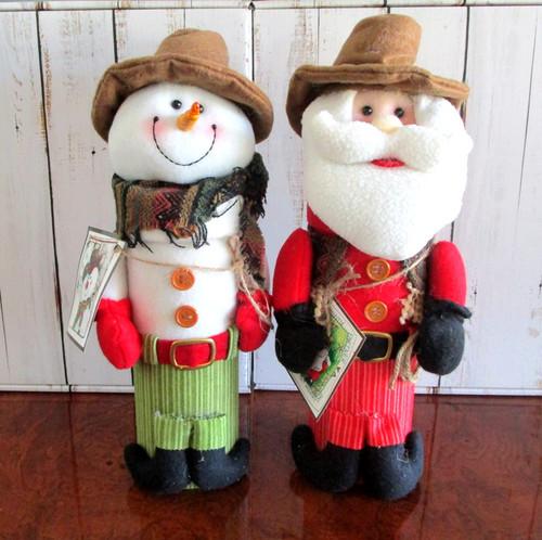 Texas Santa Claus n Texas Snowman Gift Combo