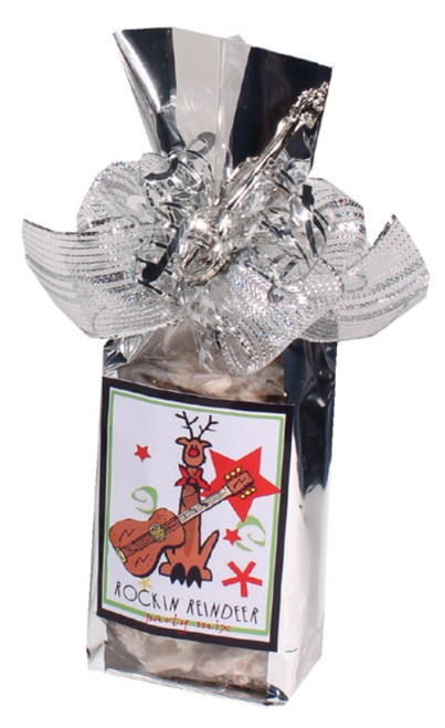 Rockin Reindeer Holiday Themed Christmas Design Snack Mix Gift Bag