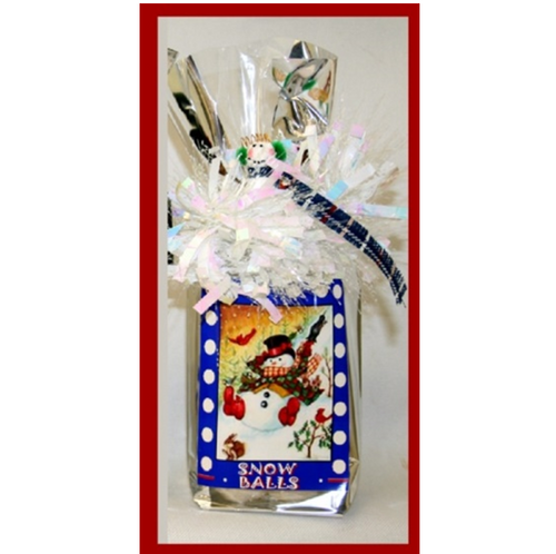Snowman Snowballs Winter Holiday Themed Design Snack Mix Gift Bag