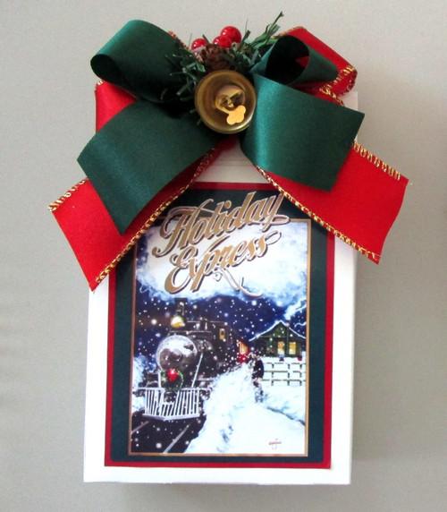 Holiday Express Themed Caramel Popcorn n Peanuts Snack Gift Box
