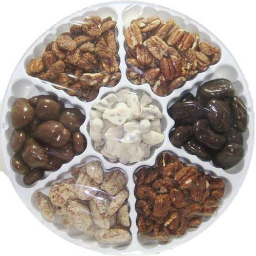 TJ Texas Pecans 7 Flavor Variety Gift Tin of Pecans
