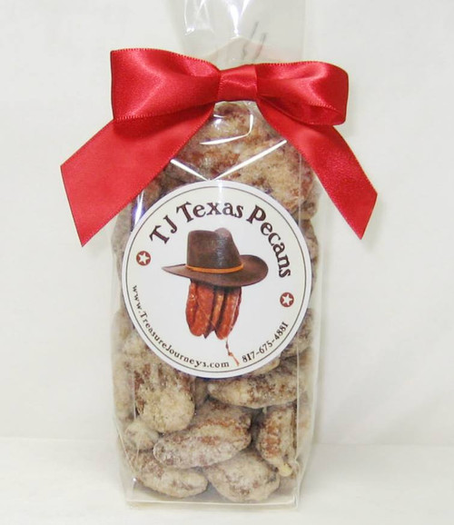 Praline Frosted Candied TJ Texas Pecans Gift Bag