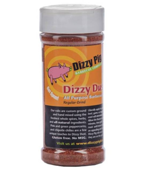 Dizzy Pig Dizzy Dust Regular Grind BBQ Rub Spice 8 ounce shaker bottle