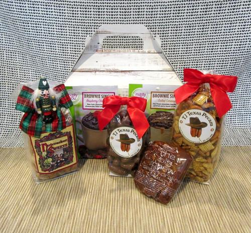 Seasons Greetings Holiday Snack Gift Basket Box