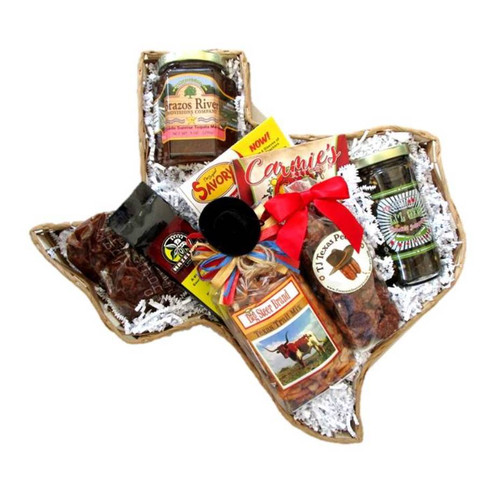 Texas Snack Time Gift Basket