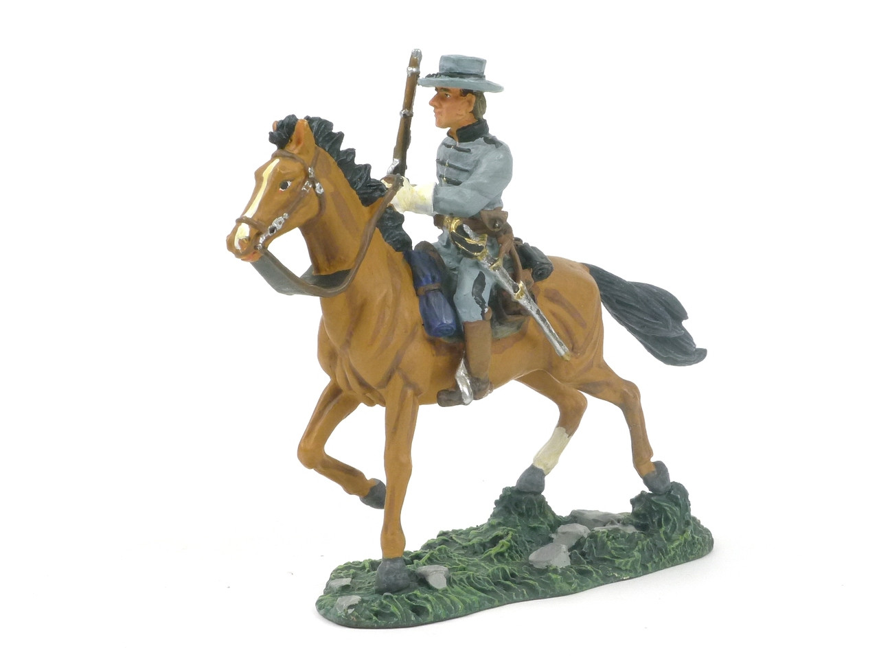 Figure Soldier Napoleonic War horse and rider for a horse cart 1//32 Atlas