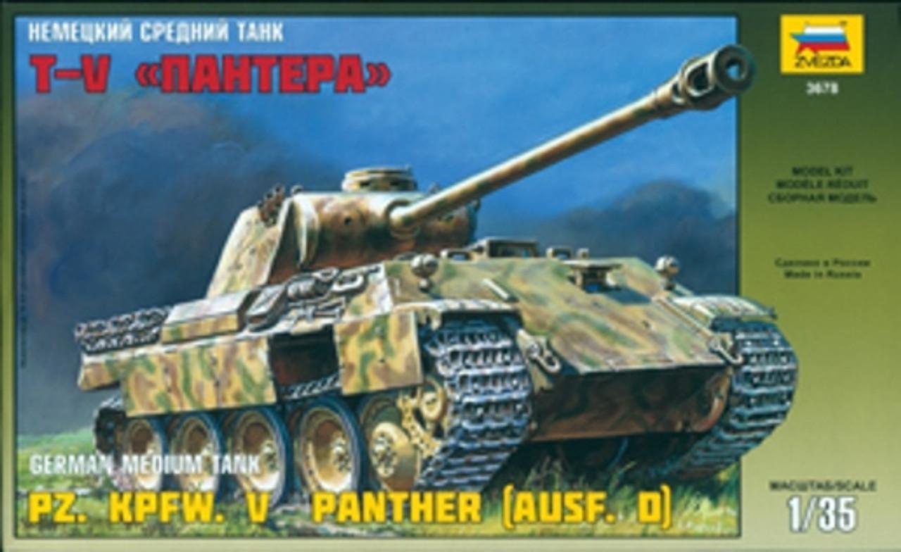 ZVEZDA German Model Tank Kit 3678 Panzer KPFW  V Medium Tank 1/35 Scale