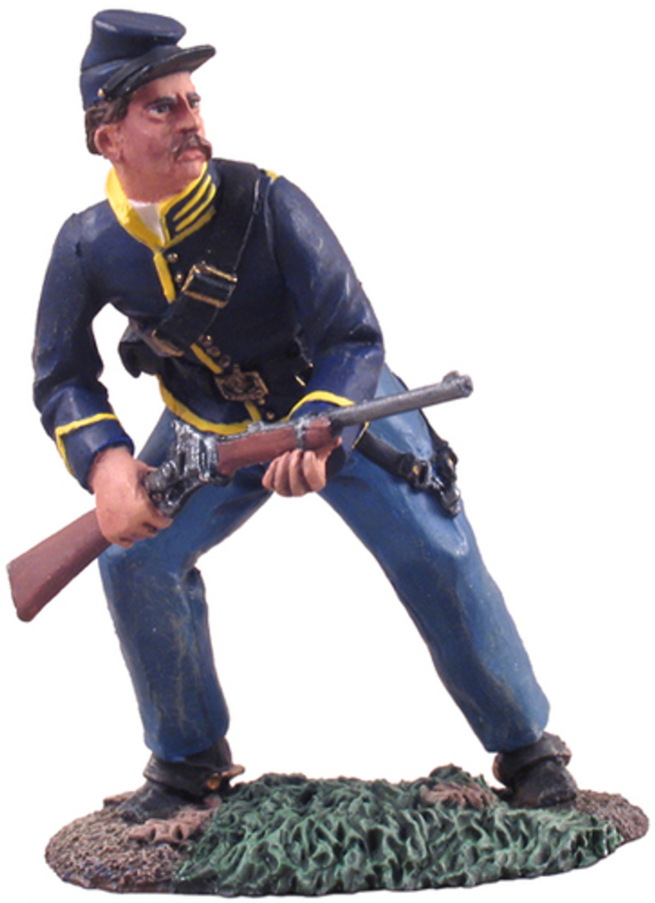 W Britain 31063 Union Cavalry Trooper Dismounted Standing Firing No.1