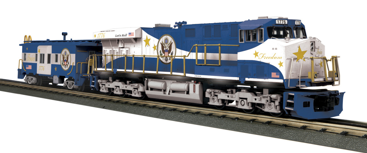 MTH RailKing 30-20433-1 Freedom ES44AC Imperial Diesel & Caboose Set  w/Proto-Sound 3 0