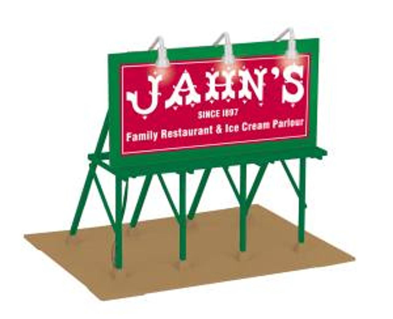 MTH O Gauge Jahn/'s Ice Cream Lighted Billboard New in Box