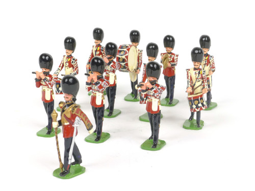 Ducal Traditional Military Figures 185 Queen's Own Cameron Highlanders Pipes & Drums Marching Band