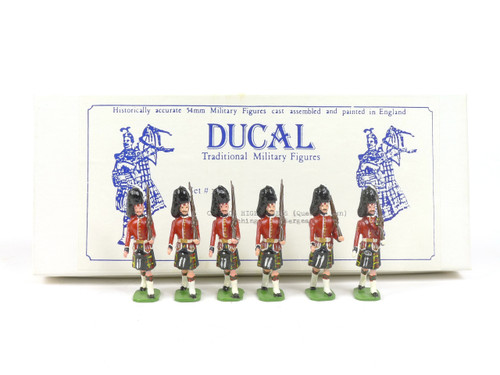 Ducal Military Figures Set 182B Cameron Highlanders Marching with Sergeant (Queen's Own)