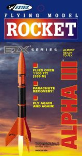 Estes models 1256 Alpha III Rocket E2X