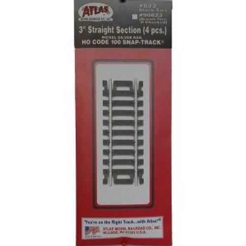 Atlas 823 HO Code 100 3 Straight 4 pack
