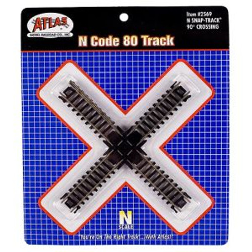 Atlas 2569 N Scale Code 80 90* Crossing