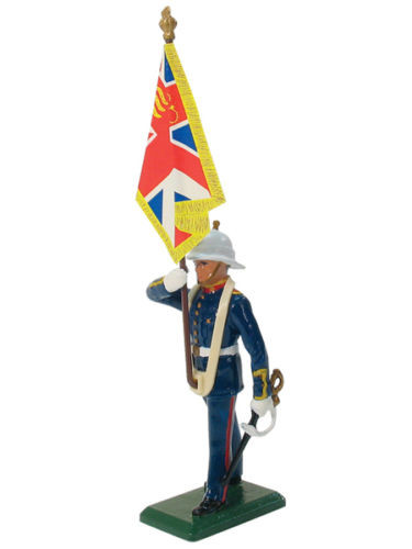 William Britain Royal Marine Standard Bearer Queens Colour Toy Soldier