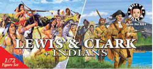 Billy V 681 1/72 Lewis & Clark Expedition Figures